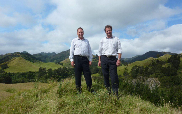 Hawkes Bay Regional Council chief executive Andrew Newman and Ruataniwha water storage project manager Graeme Hansen.