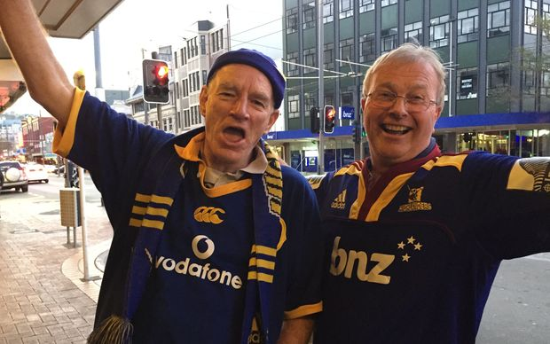 Highlanders fans in high spirits.