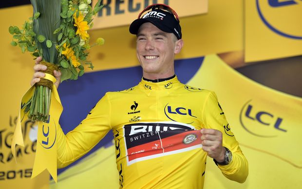 Rohan Dennis on the podium
