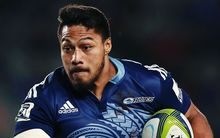 George Moala playing for the Blues during the 2015 Super Rugby season.