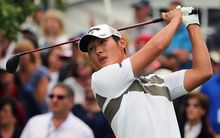 Danny Lee on his way to victory at the Greenbrier Classic, 2015.