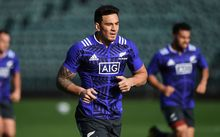 Sonny Bill Williams at All Blacks training