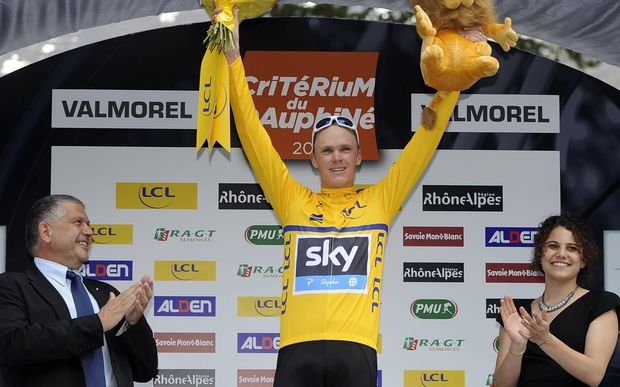 Chris Froome riding for UCI ProTeam Team Sky.