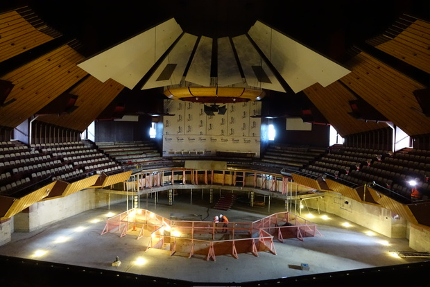The main auditorium of earthquake-damaged Christchurch's Town Hall on 8 July 2015.