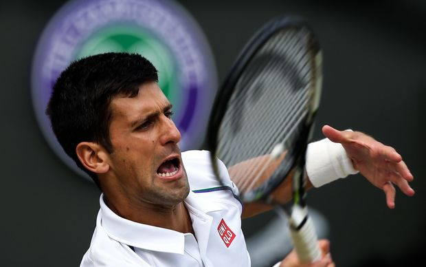 Defending champion Novak Djokovic is through the semi-finals.