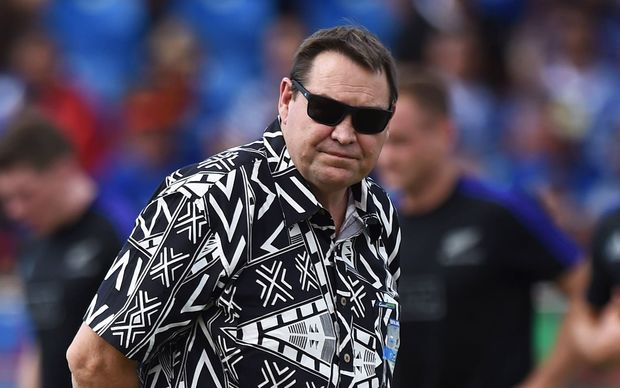 Steve Hansen on duty at Apia Park