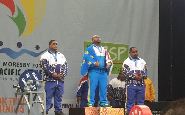 Telupe Iosefa, Tuvalu powerlifter, wins Tuvalu's first ever Pacific Games gold medal.