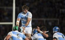 Former captain Juan Martin Fernandez Lobbe soars high for the Pumas