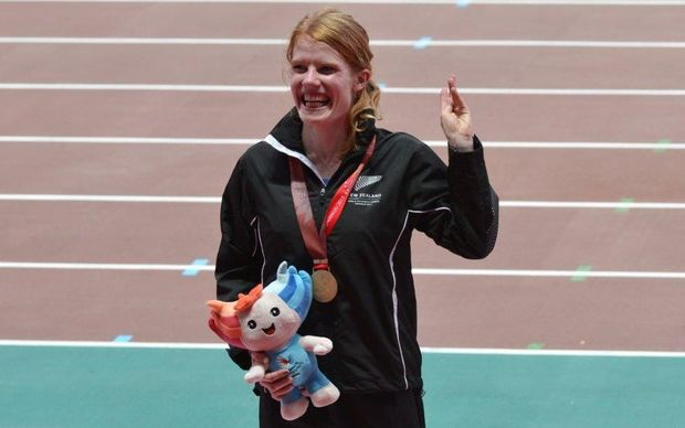 Angie Petty with her gold medal