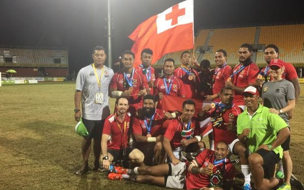 Tongan mens 7s team claimed bronze at the Pacific Games in PNG.