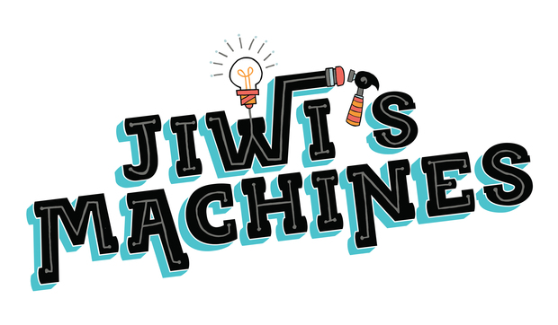 The logo for the web series, 'Jiwi's Machines.'