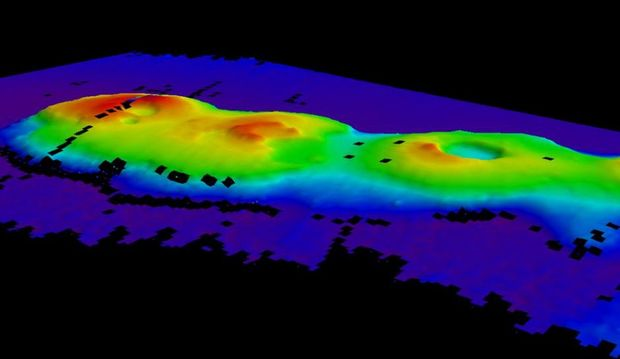 Four extinct volcanoes discovered about 250km off Sydney's coast.