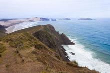 A beach between Cape Reinga and Cape Maria van Diemen in Northland.