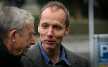 Nicky Hager walking into Wellington High Court 15/07/15