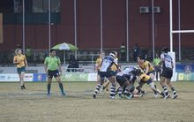 Australia and Fiji contest the Pacific Games women's sevens final in Port Moresby.