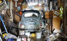 Lewis Bunker's lovingly restored VW Beetle is a write-off following the flood.