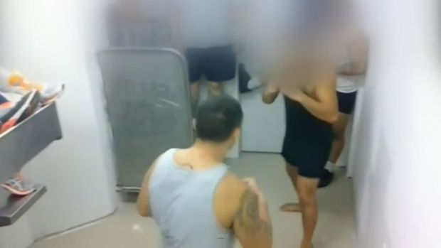 Prisoners filmed themselves fighting in Mt Eden prison.