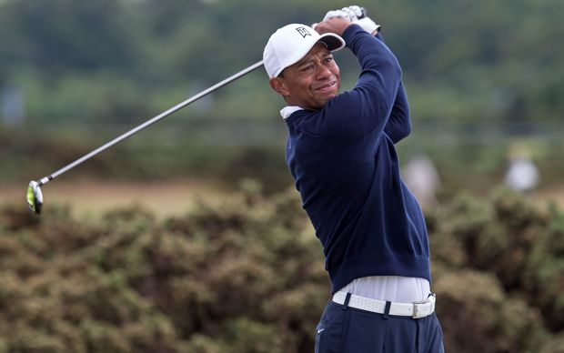 Tiger Woods during the 1st round of the Open Championship, 2015.