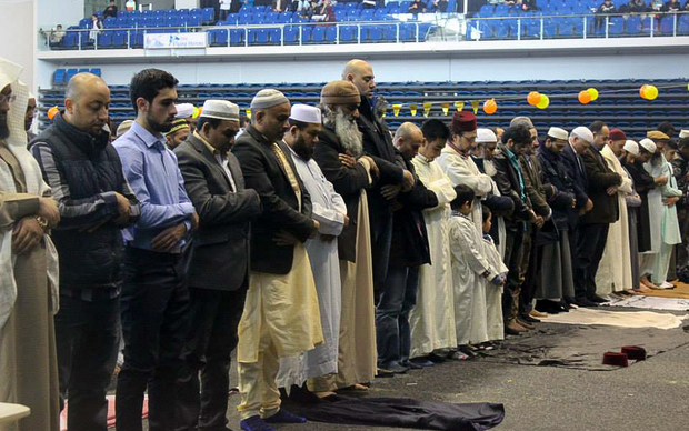 Members of the Muslim community at Eid day.