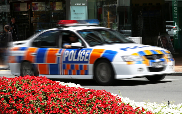 Police car in Wellington