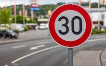 30km speed sign
