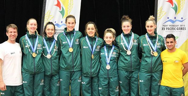 Australia won thirteen medals in taekwondo at the Pacific Games in Port Moresby, in a total haul of 47 medals.
