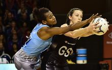 Silver Ferns shooter Bailey Mes competes