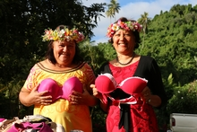 Cook Islands National Council of Women Coordinator, Taputukura Mariri and Vice President of the Cook Islands Breast Cancer Foundation – Patricia Tuara-Demmke.