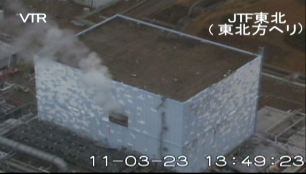 Japan's Fukushima Daiichi nuclear power plant in meltdown following the March 2011 earthquake and tsunami.