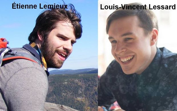 Images of  Etienne Lemieux and Louis-Vincent Lessard were posted on a Facebook page.