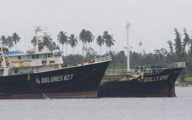 Filipino fishing vessels docked in Madang, PNG.