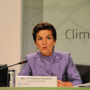 Christiana Figueres, the executive secretary of the UN Framework Convention on Climate Change, or UNFCCC.