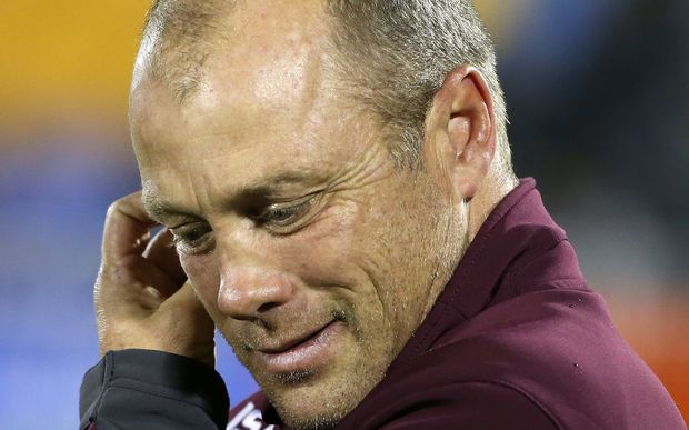 Geoff Toovey has been sacked as Manly coach but will continue until the end of the season.