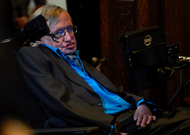 British scientist Stephen Hawking attends a news conference in London on 20 July.
