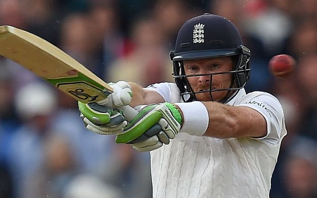 England's Ian Bell plays a shot on the first day of the third Ashes cricket test match.