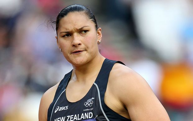 New Zealand shot put athlete Val Adams.