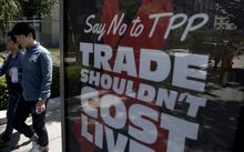 TPP opponents in the United States have mounted campaigns including ads on the streets of Washington, DC.