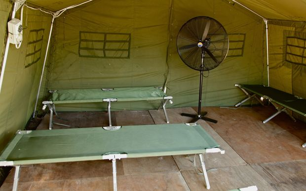 Beds at Manus Islands Detention Centre on Papua New Guinea