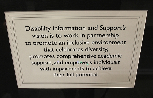 Disability Information and Support Student Services mission statement.