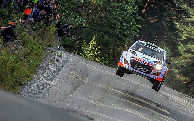 Plenty more roller coaster roads lie in store for Haydon Paddon in the Rally of Finland.