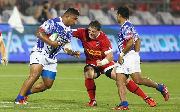 Samoa needed a last-minute try to beat Canada 21-20 in the World Rugby Pacific Nations Cup 2015.
