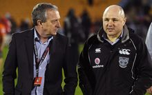 Warriors boss Jim Doyle (L) with coach Andrew McFadden
