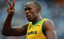 The Jamaican world sprint champion Usain Bolt.