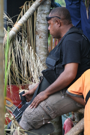Personal security employees generally carry guns in Papua New Guinea.