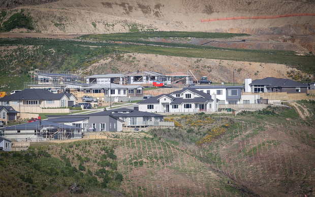 Housing development north of Porirua.