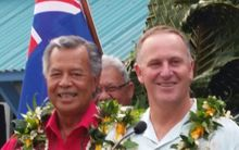 Prime Ministers Henry Puna and Johny Key in Rarotonga.