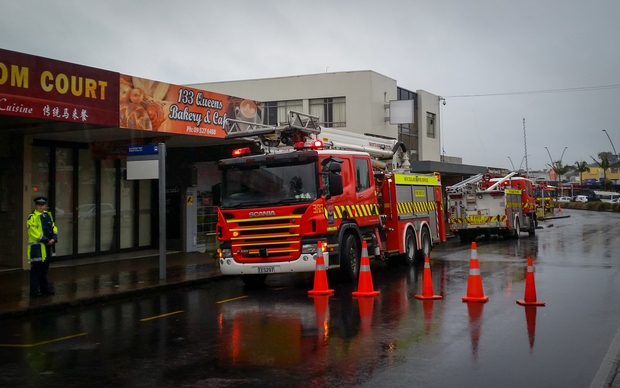 The scene of a fatal fire in Panmure today