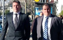 Shaun Kenny-Dowall (left) heads to court in Sydney.