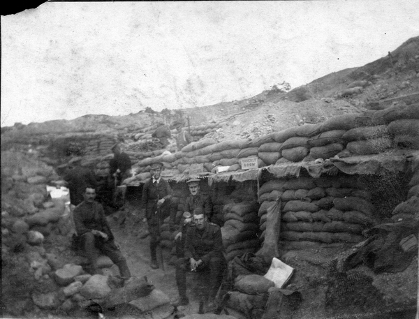 New Zealand soldiers at the Apex near Chunuk Bair, Gallipoli.