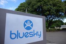 Telecommunications company Bluesky.